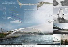 Second Prize in International Architecture Competition for Students - Projetar.org // Bridge Park Ricardo dos Santos // Florianópolis - Brazil