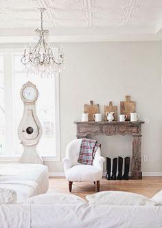 Falsa chimenea  #Chimeneas  #Fireplace  #decor #living #salón