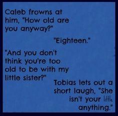 Divergent Caleb and Four/Tobias Divergent Memes, Divergent Hunger Games, Divergent Fandom, Divergent Trilogy, Divergent Insurgent Allegiant, Insurgent Quotes, Book Memes, Book Quotes, Tris And Four