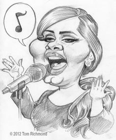 Multiple-Grammy Winning Singer ADELE.  by:Tom Richmond