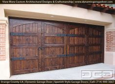 Custom Spanish Garage Doors 14 | Handcrafted in a European Style by Dynamic Garage Door | European Wood Garage Doors