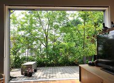 施工例2=屋外のリビング――ウッドデッキとテラスの庭|高田造園設計事務所