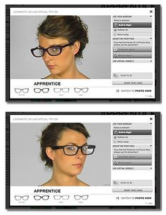 Lookmatic -  website that lets you try on eyeglasses virtually!  | @LOOKMATIC lookmatic.com