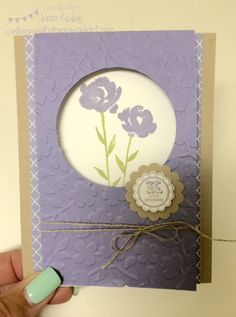 Painted Petals and RETIRING A Round Array Card :: Confessions of a Stamping Addict Lorri Heiling (Design CASED from Leeann Gref)