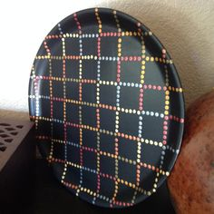 Hand Painted Vintage Checkerboard Polka Dotted by #BethAnnsJewelry