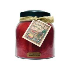 Amazon.com: A Cheerful Giver Strawberries and Whipped Cream Papa Jar Candle, 34-Ounce: Home & Kitchen