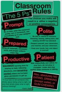 5 Classroom management tips + Class rules - 5 Ps, posters, reflection behaviour forms
