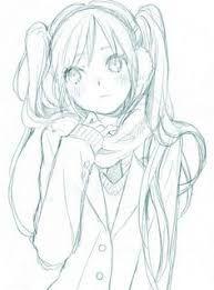 Image Result For No Color Anime Drawings Anime Sketch Manga Drawing Anime Art Girl