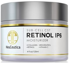 NeuCeutica Retinol Moisturizer Cream Anti Wrinkle for Neck, Face: With Collagen, Vitamin C, Resveratrol - 4 Ounce ** Check out this great product. (Note:Amazon affiliate link) #OilySkinCare