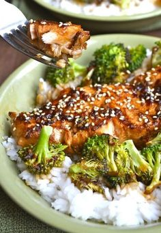 Chili Garlic Salmon and Broccoli Bowls. Healthy, easy, and ready in under 20 minutes!