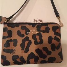 Coach animal print wristlet Cute wristlet brand new never used Coach Bags  Mini Bags 82c7454847f7