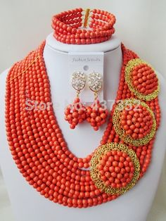 Find More Jewelry Sets Information about Fabulous! Coral Color Orange Turquoise 3 Brooches Costume Necklaces Nigerian Wedding African Beads Jewelry Set TC101,High Quality Jewelry Sets from Alisa's Jewelry DIY Store on Aliexpress.com Orange And Turquoise, Turquoise Beads, Coral Color, Orange Color, Diy Store, Costume Necklaces, African Beads, Jewelry Sets, Brooches