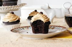 The Dormestic Goddess: Dark Chocolate Coffee Cupcakes with Marshmallow Coffee Buttercream