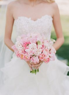 Beautiful pink #bouquet from Allie and Kyle's #wedding #weddinginspiration   Paradise Valley, Arizona Wedding from Melissa Schollaert Photography + Victoria Canada Weddings & Events