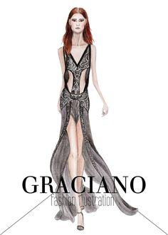 GRACIANO fashion illustration: Roberto Cavalli S/S 2013 #MFW