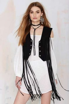 Nasty Gal Rebel Rouser Suede Fringe Vest | Shop Clothes at Nasty Gal!