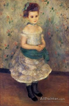 Pierre Auguste Renoir Jeanne Durand-ruel oil painting reproductions for sale