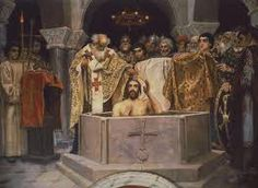 Baptism of Count Vladimir and the start of the Rus´s Christianization.