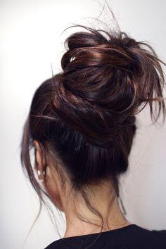 93 Best Bun Updo Images In 2019 Bun Hairstyles Hair Long