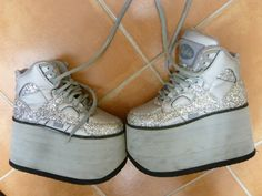 579244ba3ef6 Buffalo Tower Boots Glitzer Schuhe, Gr. 36, Plateau, Gogo, Raver  Style1310-2   eBay