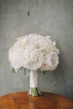 Romantic peony bridal bouquet #weddings | Image by Mango Studios