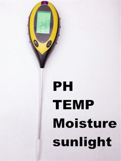 best price lcd display 4 in1 plant flowers soil survey instrument ph meter temperature moisture #temperature #meter