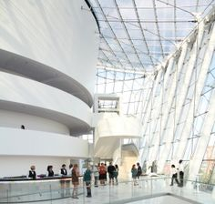 The Kauffman Center is the new home of the KC Symphony, Opera and Ballet.  Mimics the Guggenheim; its absolutely GORGEOUS.
