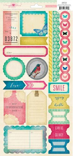 Crate Paper Maggie Holmes Accent Stickers - Labels