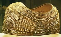 The Mold Cape is a solid sheet-gold object dating from about BC in the European Bronze Age. It was found at Mold in Flintshire, Wales, in File:British Museum gold thing 501594 Just Keep Walking, Welsh Gold, Gold Hats, Archaeology News, Silver Wedding Rings, Gold Wedding, Celtic Art, Iron Age, Gold Work