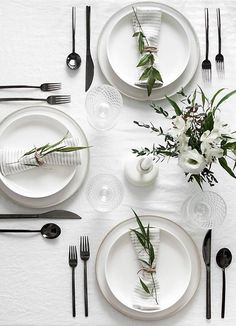 elevated, modern table setting