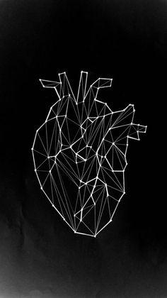 #Geometría #Corazón #Constelación geometric anatomical heart drawing - Cerca con Google More