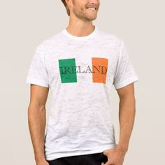 Irish Flag Letters Mens Canvas Fitted Burnout T T-Shirt  $32.70  by TrendsandTrinkets  - custom gift idea
