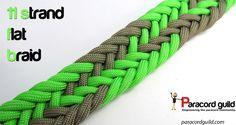 11 strand flat braid tutorial (gaucho style).