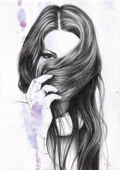 Under the rose by dh6art Cool Pencil Drawings, Colorful Drawings, Art Drawings Sketches, Drawing Hair Braid, Hair Sketch, Deviantart, Beauty Art, Drawing Techniques, Drawing People