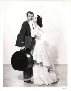 Robert Walker and Hedy Lamarr - Her Highness and the Bellboy. Joseff of Hollywood jewelry! Hollywood Jewelry, Old Hollywood Glam, Hollywood Actor, Golden Age Of Hollywood, Classic Hollywood, The Bellboy, Robert Walker, Movie Kisses, Hedy Lamarr