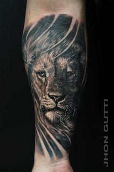 LION PORTRAIT by Jhon Gutti : Tattoos