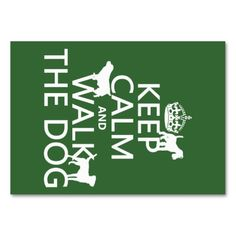 Keep Calm and Walk The Dog - all colors Business Card