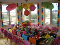 not traditional .. but a fiesta for combined girls and boys party ~ 4, 9, & 16 years old ONE PARTY