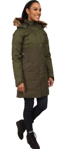 The North Face W Shavana Parka XL Olive Green Faux Fur Hood MSRP $420 NEW | Clothing, Shoes & Accessories, Women's Clothing, Coats & Jackets | eBay!