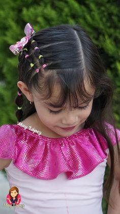 Easy Toddler Hairstyles, Easy Little Girl Hairstyles, Baby Girl Hairstyles, Braided Hairstyles, Toddler Hair Dos, Front Hair Styles, Curly Hair Styles, Girl Hair Dos, Hair Videos