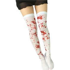 Women Japanese Style Lolita Cosplay Thigh High Socks (one size, red... ($8) ❤ liked on Polyvore featuring intimates, hosiery, socks, red hosiery, thigh-high socks, thigh high hosiery, red thigh high socks and red socks