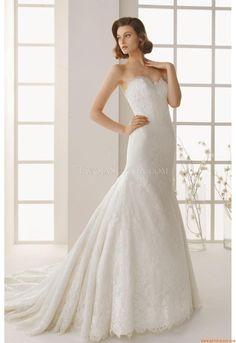 Meerjungfrau Herz-ausschnitt Moderne Brautkleider aus Spitze mit Schleppe