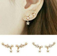 Aliexpress.com : Buy E258 fashion earrings 2014 Shining full bore little star earrings from Reliable earring male suppliers on Alan jewelry wholesale market Can be  | Alibaba Group