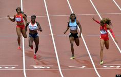 Christine Ohuruogu ran a hugely a gutsy season's best but failed to reclaim the Olympic crown she so impressively captured in Beijing, finishing second to America's Sanya Richards-Ross in the fin. Black Gazelles, Sanya Richards, Black Goddess, Athletic Body, My Black, The Man, Olympics, Silver