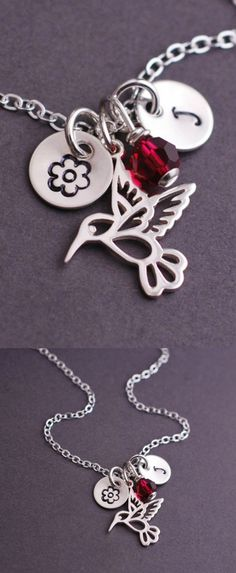 Lovely hummingbird necklace.