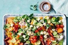 Mixed melon Greek salad Greek Salad, Summer Recipes, Cobb Salad, Salad Recipes, Food, Summer, Eten, Meals, Diet
