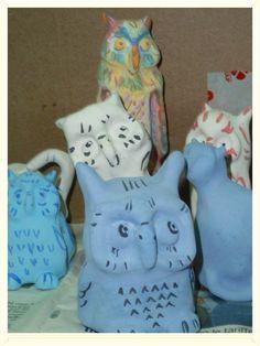 Gufi, civette, gatti, cosa vuoi'Ne ho di tutti i tipi, forme e colori...Per adesso lavori in corso ma tra qualche settimana... troverete tutto questo e molto altro su http://www.etsy.com/shop/LabLiu