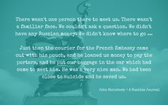 In 1946 John Steinbeck and Robert Capa spent a month travelling in the Soviet Union. Here Steinbeck describes their arrival. His slim journal is a masterpiece of funny, compassionate, truthful reporting. Russian Money, The Porter, Soviet Union, Coming Out, Compassion, Travelling, Writer, Lost, Slim