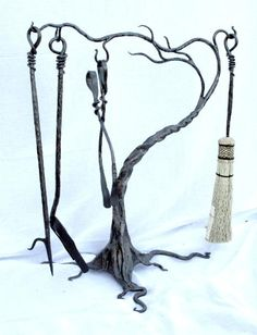 custom-made fireplace accessories by earth eagle forge