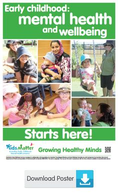 Early Childhood … mental health and wellbeing starts here!  | kidsmatter.edu.au